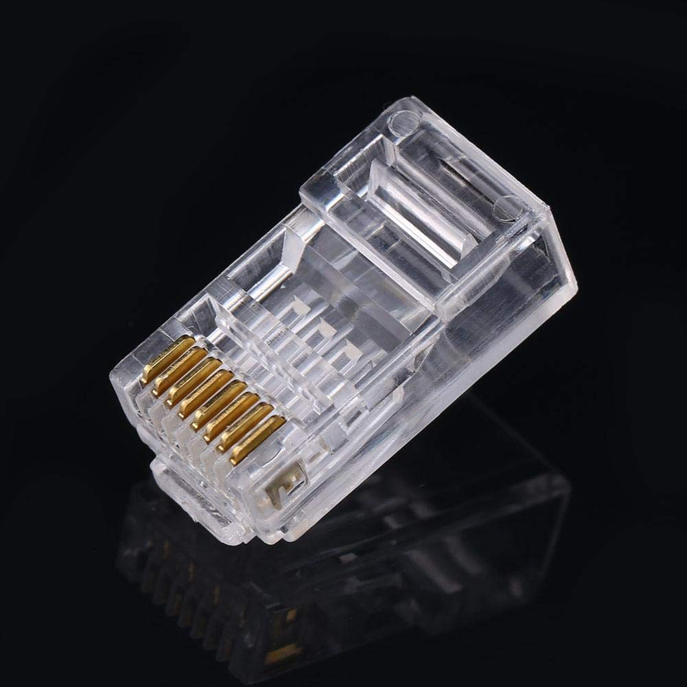 Fdit Cat6 Cat6a Network Internet Connector 8P8C RJ45 Modular Plug Cable Heads 100 PCS//LOT