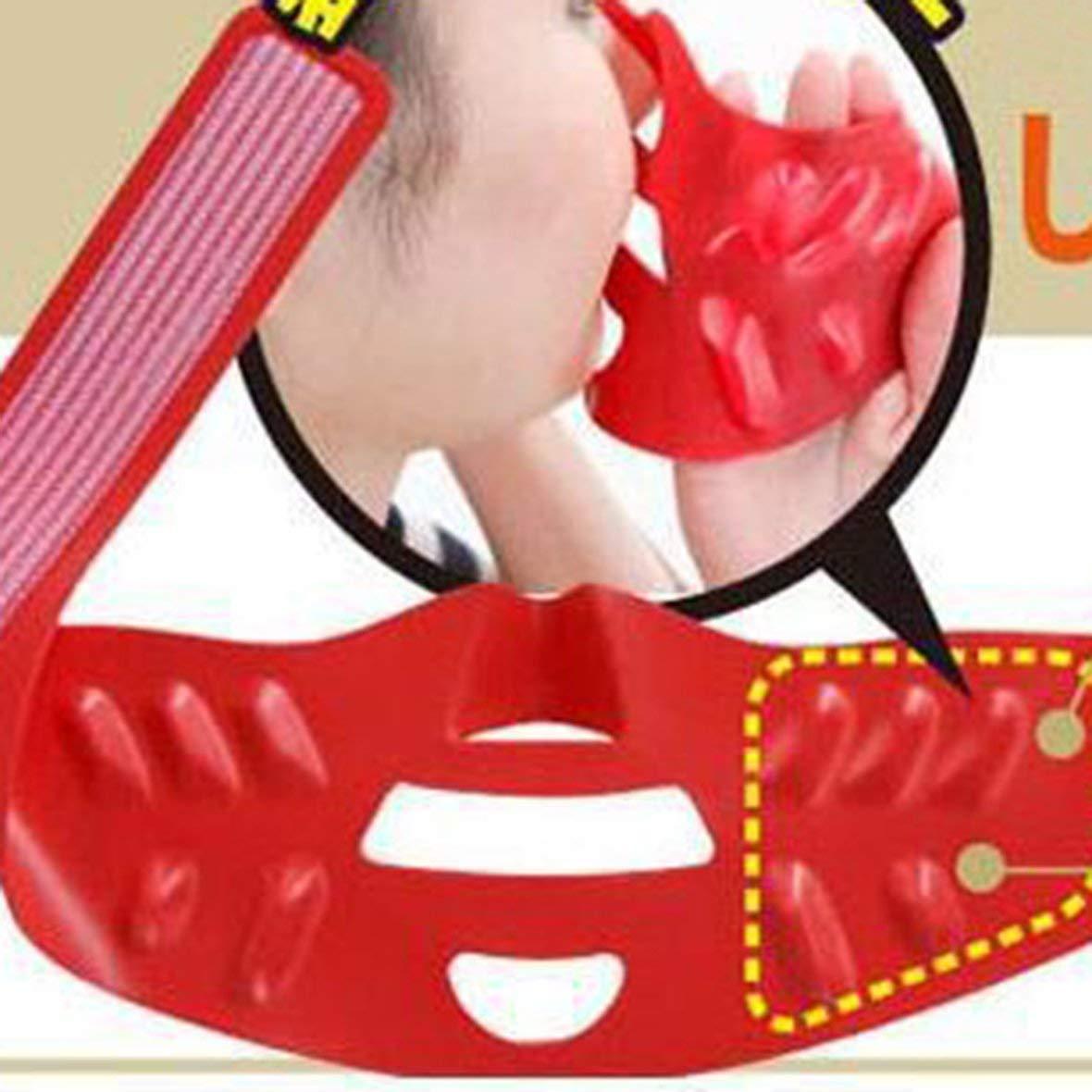 Heaviesk Silicone Visage Minceur Masque Visage Menton Bande De Levage Soins De La Peau Levage Enveloppe V Forme Double Mentonni/ère Ceintures De Serrage