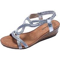 Jomix - Sandalias bajas de verano, elegantes, para mujer