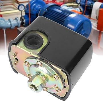 230V 12A Pressostat de Pression /à Rssort Double pour Pompe /à Eau 20~120PSI G1 4  Commutateur
