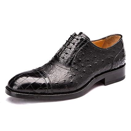 Oxford Cocodrilo Inteligente Hombres Cuero Zapatos Patrón Formal 5ARj4L