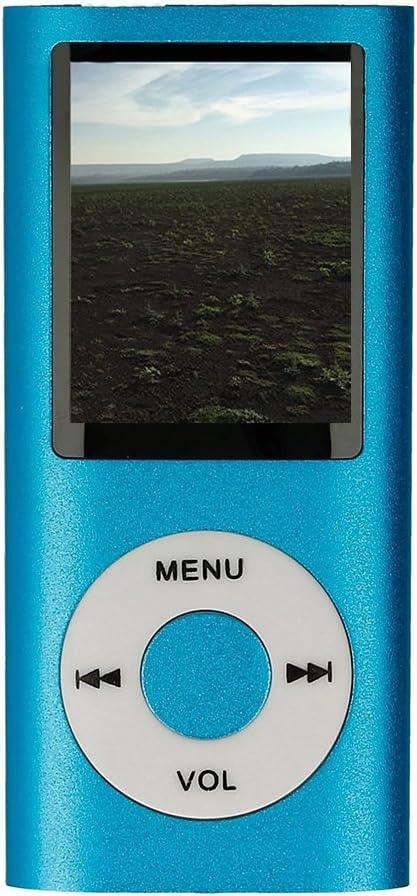 Reproductor de Video Reproductor MP4 con Pantalla LCD Grabadora de Voz Lector e-Book Visor de Fotos Color Negro Electr/ónica Rey/® Radio FM