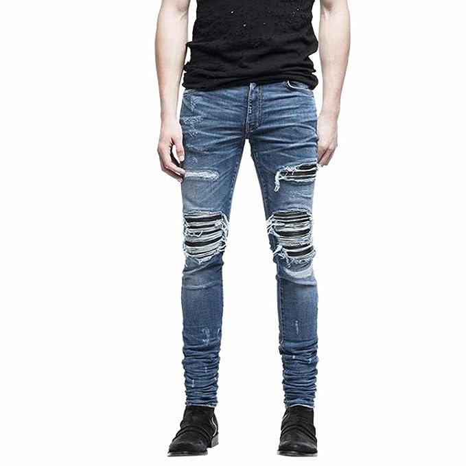 Pantalones Hombre,❤Dorame❤ Pantalones Denim Jeans Vaqueros ...