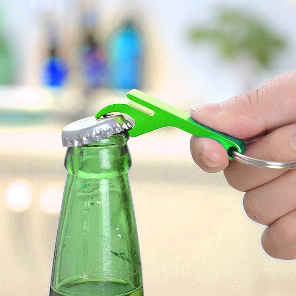 Solid Aluminum Bartender Keychain Pocket Beer Bottle Opener 24