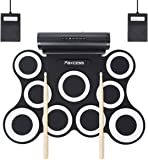 PAXCESS 9 Pads Electronic Drum Set, Electric Drum Set with Headphone Jack, Built in Speaker and Battery, Drum Stick…