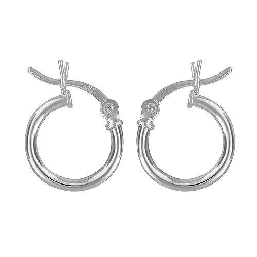 8c30f8465 Amazon.com: Sterling Silver Small Huggies Hoop Earrings 2mm x 12mm: Jewelry