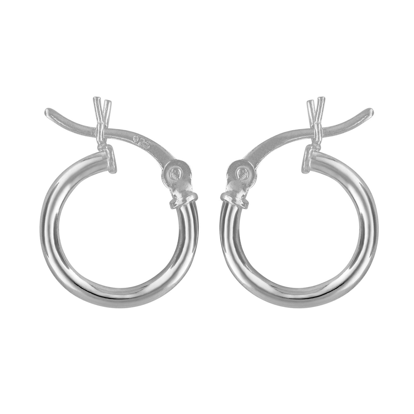 Sterling Silver Small Huggies Hoop Earrings 2mm x 12mm