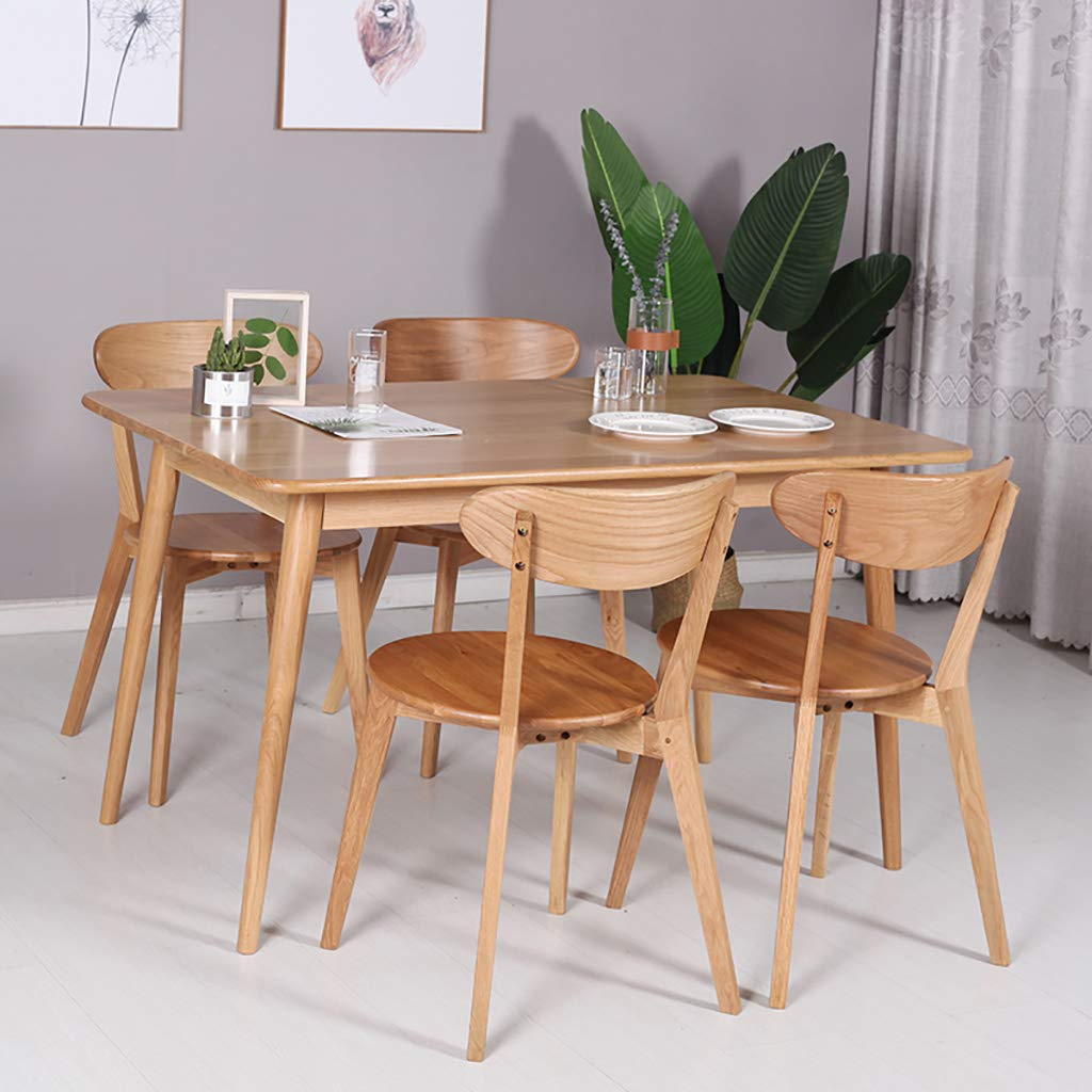 Amazon.com: Solid Wood Nordic Restaurant Chair Dining Table ...