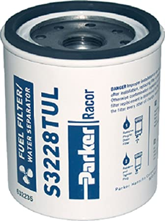 2 Racor S3227 Fuel Filter Water Separator Parker 10 Micron Pack of 2