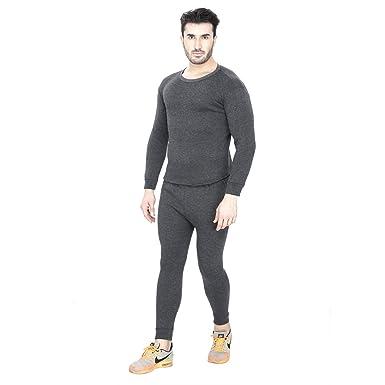 5f1b5d16ab3 Sheomy Fashion Men s Fleece Winter Body Warmer Thermal Top Pajama and  Bottom Suit Combo Set (