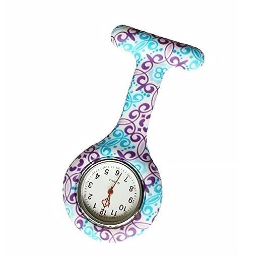 Isuper T Forma de Enfermera Enfermeras Reloj Blando de Silicona Pin de la Solapa de reemplazo higiénico Reloj de Bolsillo de la Broche de Clip paramédico ...
