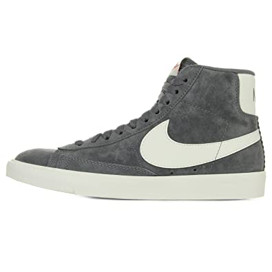 sports shoes c94e3 a7d95 Nike Womens Blazer Mid Suede Vintage Hi-Top Trainers, GrauWeiß ...