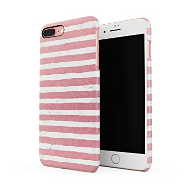 save off 709d3 024fb White Marble With Pink Stripes Hard Thin Plastic Phone Case Cover ...