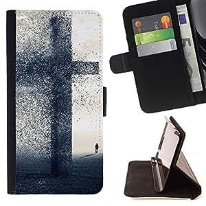 Momo Phone Case / Flip Funda de Cuero Case Cover - GRAN CRUZ - FE - Apple Iphone 6 PLUS 5.5
