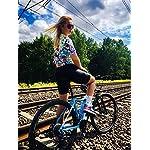 BXIO-Abbigliamento-Ciclismo-Donna-Maglie-Ciclismo-Maniche-Corte-con-Pantaloncini-Ciclismo-da-Ciclismo-Asciugatura-Rapida-per-MTB-Ciclista