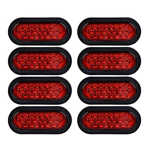 (8X 22-LED RED Oval Stop Brake Tail Light for Car UTV RV Trailer Truck )