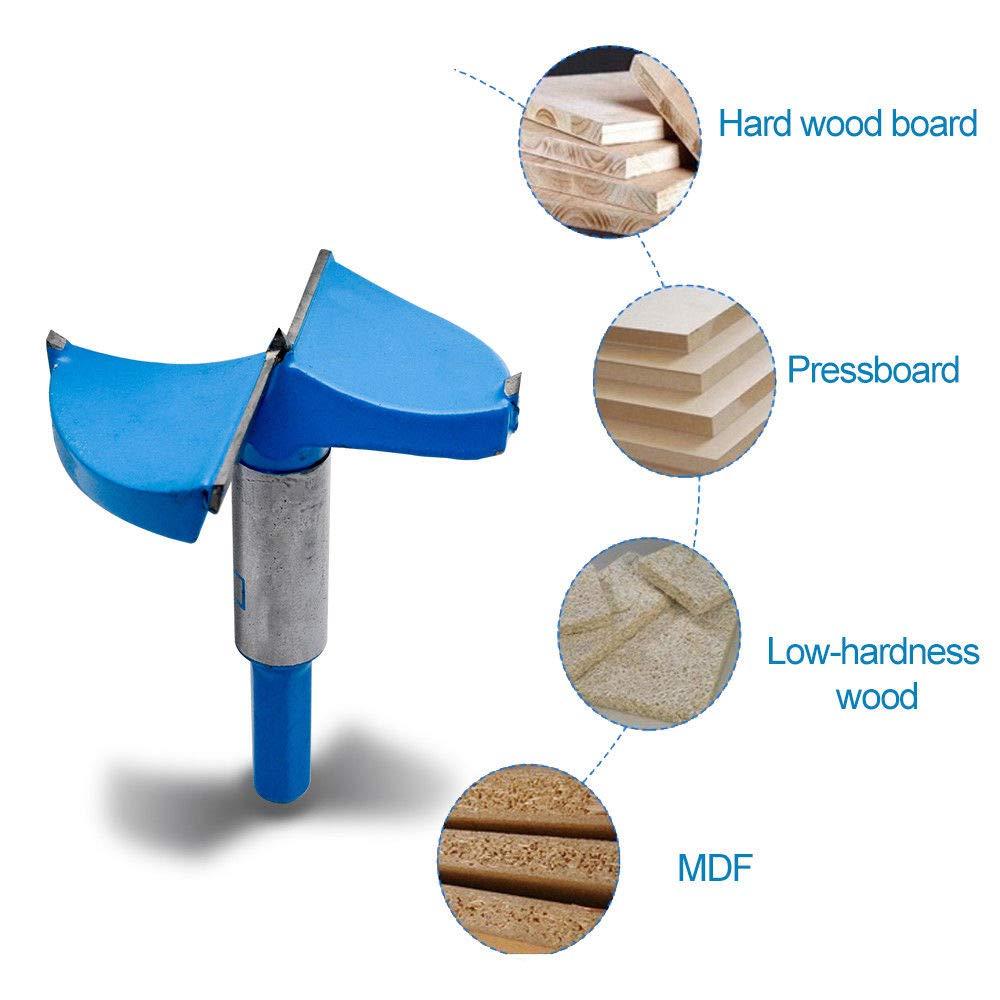 foret fraise carbure pour faconner trou travail du bois tiroirs plastique 70 mm contreplaqu/é diametre 15-80mm Meche a bois forets linstallation de portes sph/ériques bois