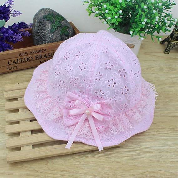 QZHYGE 1pcs Gorras de Flores para bebés con Sombreros de Malla con ...