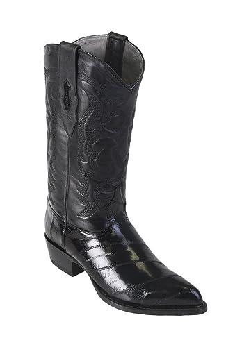 Men's J-Toe Genuine Leather EEL Skin Western Boots