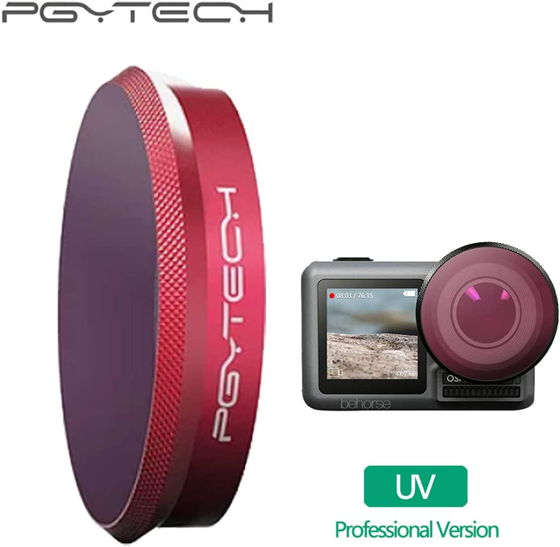 OSMO Action UV Filter PGYTECH Huaye OSMO Compact Action 4K Waterproof Camera Cam Sports Professional UV CPL ND-PL ND Filter Compatible with DJI OSMO Action Camera Accessories Professional