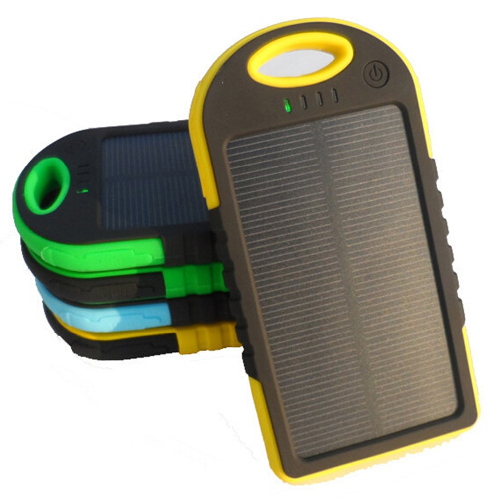 Amazon.com: COTTEE 5000mAh Dual USB Port Portable Solar Battery Panel -  Green: Cell Phones & Accessories