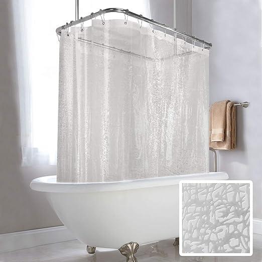 Prettyhome Shower Curtain Rod Hoop Square Shape Bathroom Neverrust