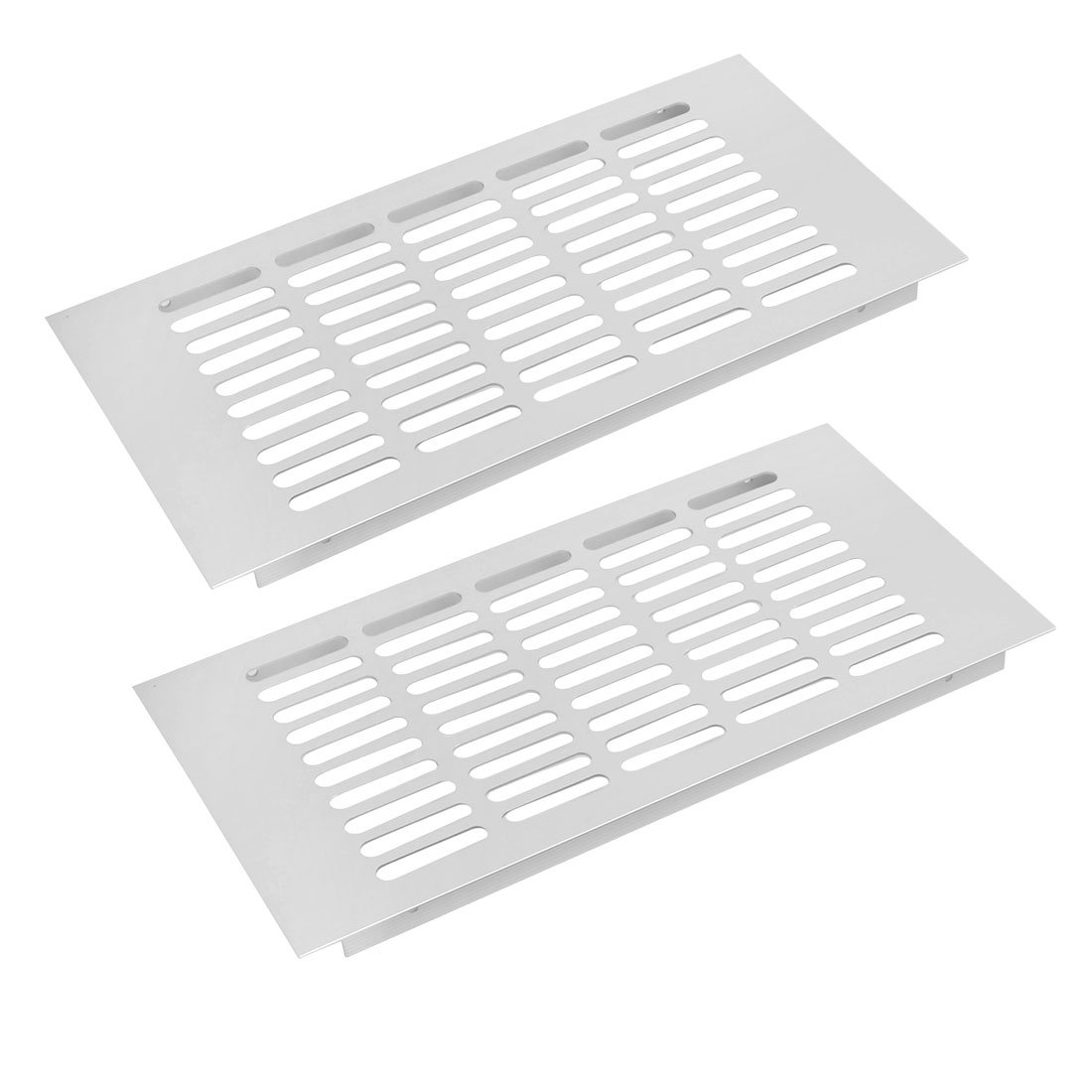 uxcell 2pcs 300mmx150mm Aluminum Alloy Air Vent Louvered Grill Cover Ventilation Grille