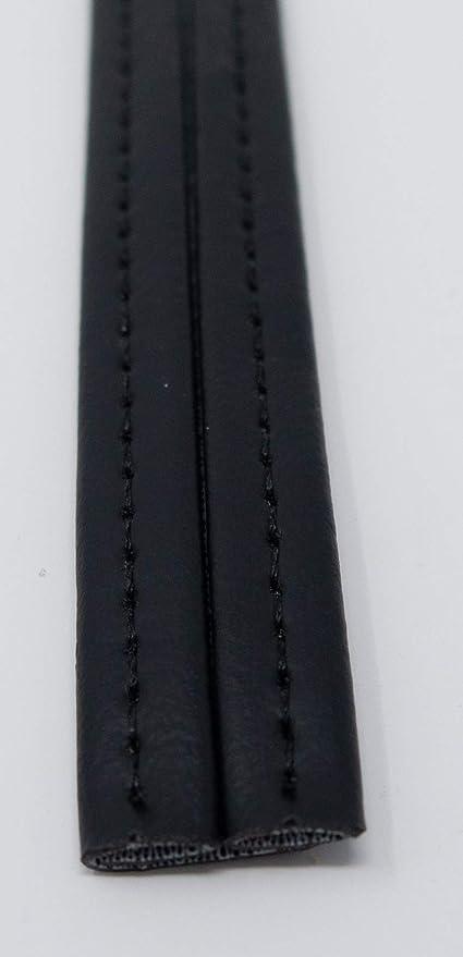 Classic Black Hidem Vinyl Marine Outdoor Auto Fabric Boat Upholstery Gimp BTY