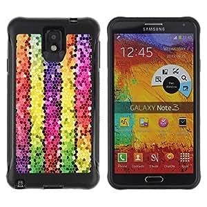 "Pulsar iFace Series Tpu silicona Carcasa Funda Case para SAMSUNG Galaxy Note 3 III / N9000 / N9005 , Líneas Polígono Electrónico 3D colorido"""