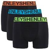 3 Pack Boxer Shorts Henleys Jersey Stretch Mens Trunks Set