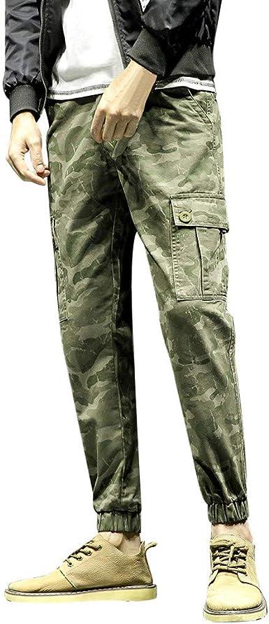 Hommes Casual Pantalon De Survêtement Pantalon Camouflage Jogging 34