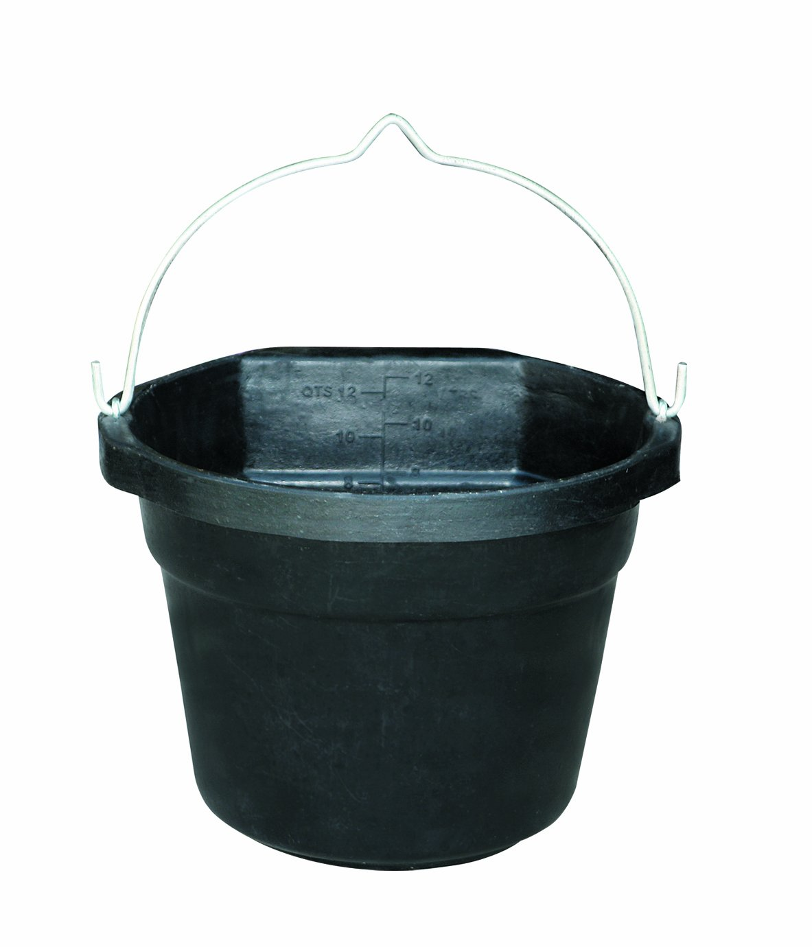 Farm Innovators Model FB-80-R Rubber 3-Gallon Flat-Back Heated Bucket, 80-Watt