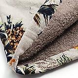 Ros1ock Winter Wool Warm Outwear Floral Print