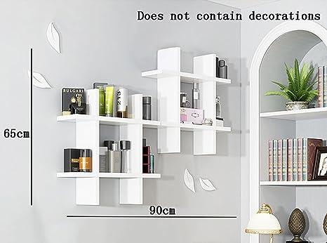 Decorare Mensole Legno : Liehu home mensole a muro pannelli in legno floating mensola