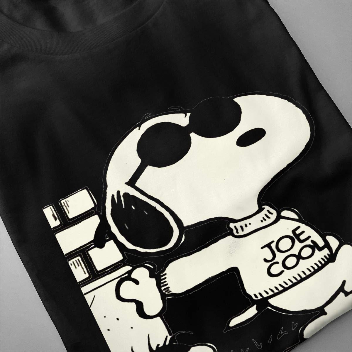 NEVER SKY Snoopy Adult Mens Essentials T-Shirt Cotton Crewneck