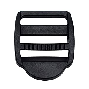 12 Pack 3/4 inch Plastic Ladder Slider Adjust Lock Buckles for Backpack Straps 20mm Webbing