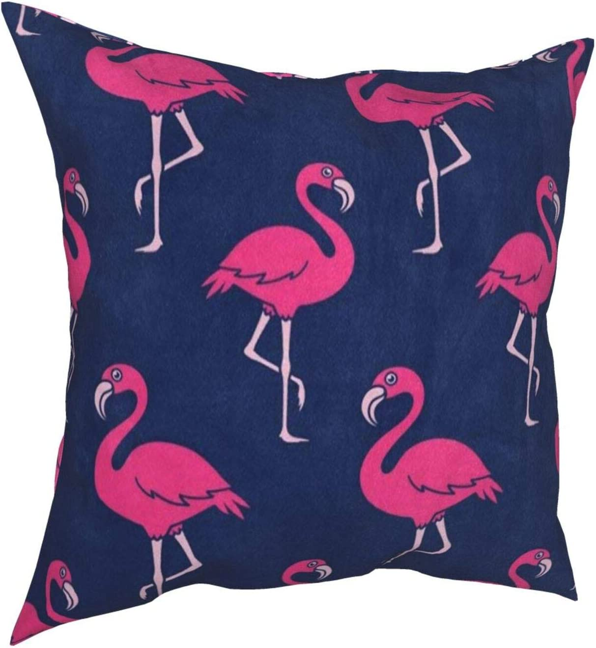 Throw Pillow Covers 18x18, Hipster Pink Flamingo Decorative Pillow Covers for Couch, Sofa and Bed, Super Soft and Luxury Pillow Cases Covers, Square Pillow Covers
