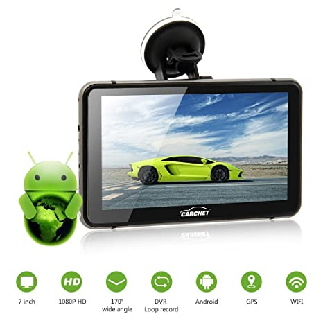 Navegador GPS para Coche-Táctil Pantalla 7 Pulagadas 8G 512MB Android 4.4 Transmisor FM HD
