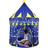 Casa de Campaña con Diseño de Castillo - Regalos para Niños Niñas Tiendas de Campaña Transpirable, Pop-up Portátil y Plegable