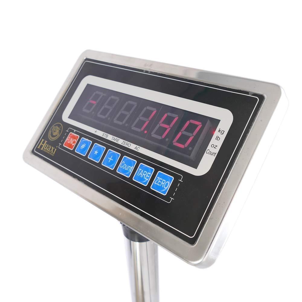 Cablematic Balance industrielle avec la plate-forme 30x40cm 60kg acier inoxydable