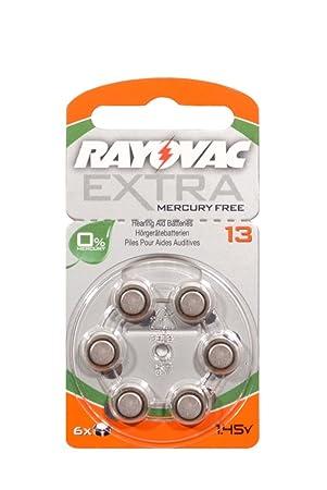 Rayovac Extra - Pilas tipo 13 para audífonos ORANGE (60 unidades, sin mercurio): Amazon.es: Electrónica