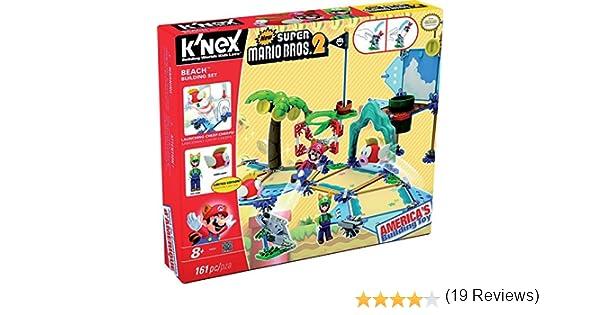 KNEX Super Mario - Set de construcción Deluxe Playa, 161 piezas (Fábrica de Juguetes 41013) , color/modelo surtido: Amazon.es: Juguetes y juegos