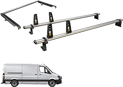 Van Guard Ulti Bar 2 Barras portaequipajes y Kit de Rodillo de Escalera Trasera para Mercedes Sprinter (06-18) [MWB]: Amazon.es: Coche y moto