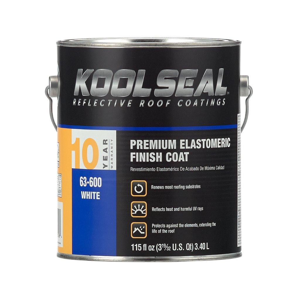 KST COATING KS0063600-16 White Roof Coating, 0.9 gallon