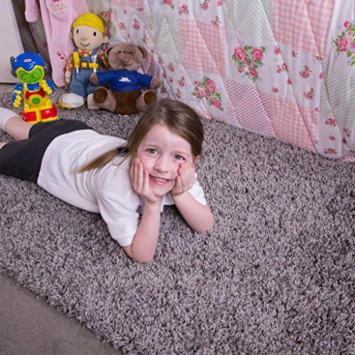 Ontario Plum Purple Bedside Bedroom Floor Shaggy Shag Fluffy Thick Warm Deep Area Rug