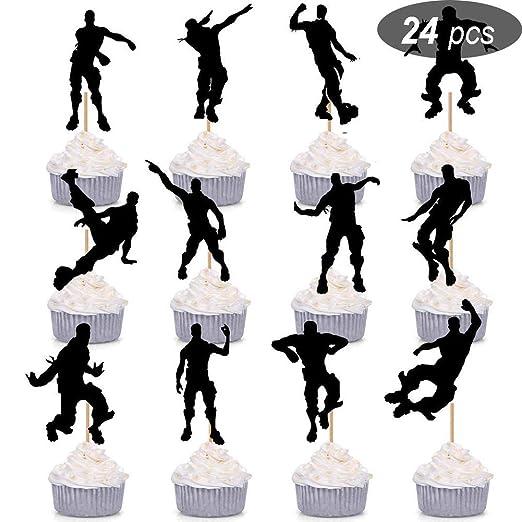 HASAKA 24 Piezas de Videojuegos Party Dance Floss Cupcake ...