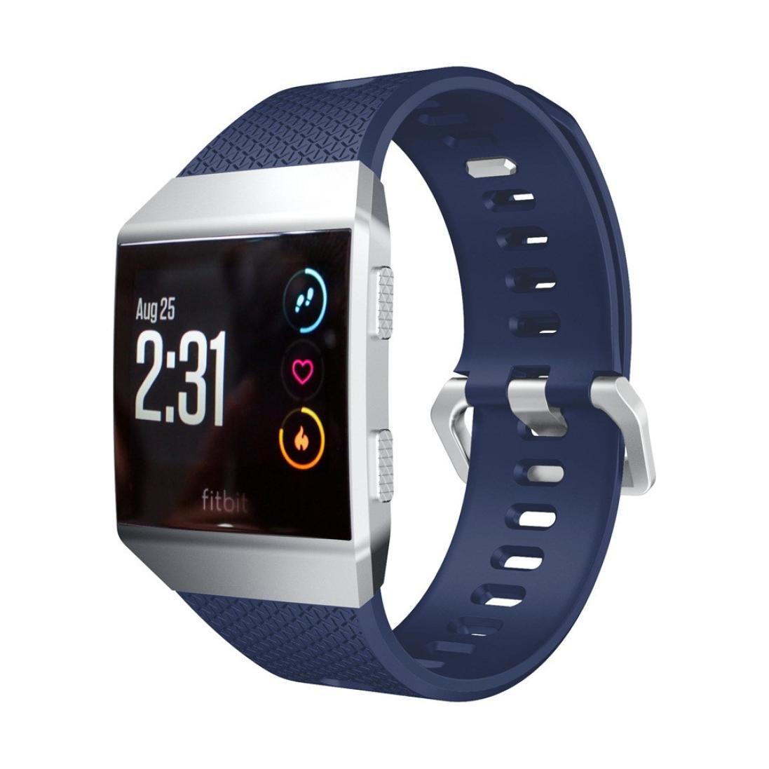 For Fitbit Ionic Smart Fitness Watch、Binmer (TM) ソフトシリコン交換スポーツバンドストラップ 6.7