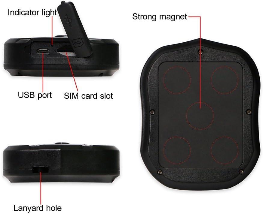 TKSTAR Mini periférico de vigilancia impermeable magnética con ...
