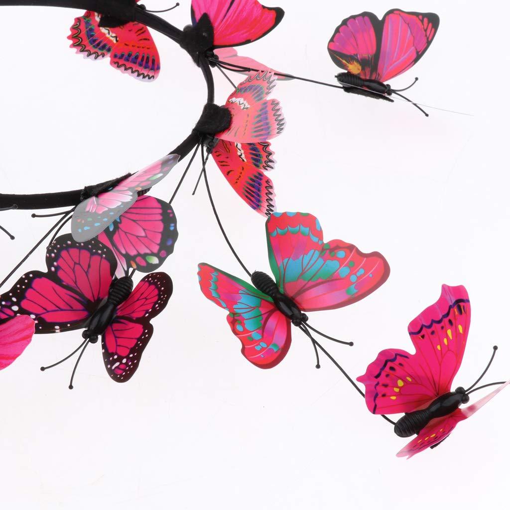 SM SunniMix Damen Schmetterling Stirnband Hochzeit Kopfschmuck Fotografie Requisiten