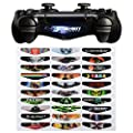 eXtremeRate® Light Bar Decal Stickers Set of 30 Different Pcs for PS4 Playstation 4 Controller - Color Prints Game Theme Mix Stickers